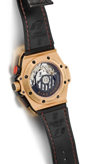 View 3. Thumbnail of Lot 168. HUBLOT | BIG BANG KING POWER, REFERENCE 703.OM.6912.HR.FMC12, A LIMITED EDITION PINK GOLD AND TITANIUM CHRONOGRAPH WRISTWATCH WITH DATE, CIRCA 2012.