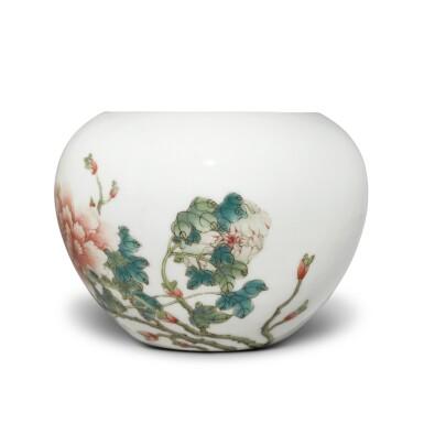 View 2. Thumbnail of Lot 204. A famille-rose 'peony' waterpot, Republic period | 民國 粉彩牡丹圖水盂 《洪憲御製》款.