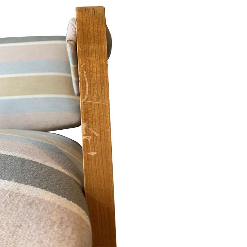 Mid-Century Modern Striped Armchairs