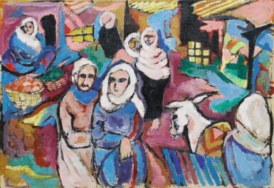 View 3. Thumbnail of Lot 29. LAILA SHAWA | THE SOUK IN GAZA.