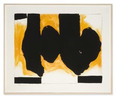 View 2. Thumbnail of Lot 82. ROBERT MOTHERWELL |  BURNING ELEGY (WALKER ART CENTER 520).