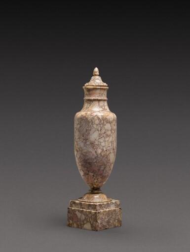 View 2. Thumbnail of Lot 167. An Italian breccia dorata marble vase, circa 1800.