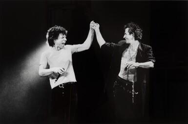 View 1. Thumbnail of Lot 28. Mick and Keith, Paris 1998.