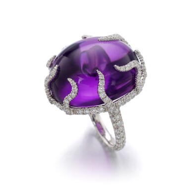 View 2. Thumbnail of Lot 41. MICHELE DELLA VALLE | AMETHYST AND DIAMOND RING.