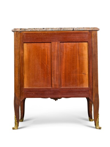 View 4. Thumbnail of Lot 16. A LOUIS XV STYLE GILT-BRONZE MOUNTED MARQUETRY SIDE CABINET, BY FRANÇOIS LINKE, CIRCA 1900.
