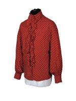 RINGO STARR | Red spotted 'ruffle' shirt, c.1968