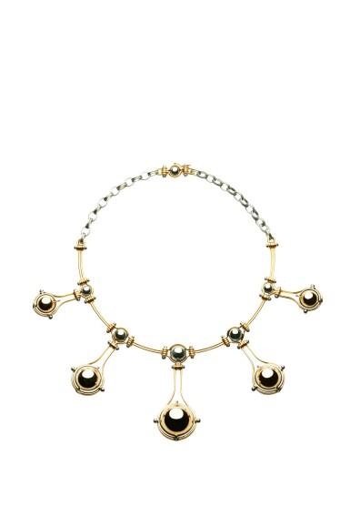 View 1. Thumbnail of Lot 7. Elie Top, Gem-Set and Diamond Necklace [Collier Pierres de Couleur et Diamants], 'Cinq Sphères'.