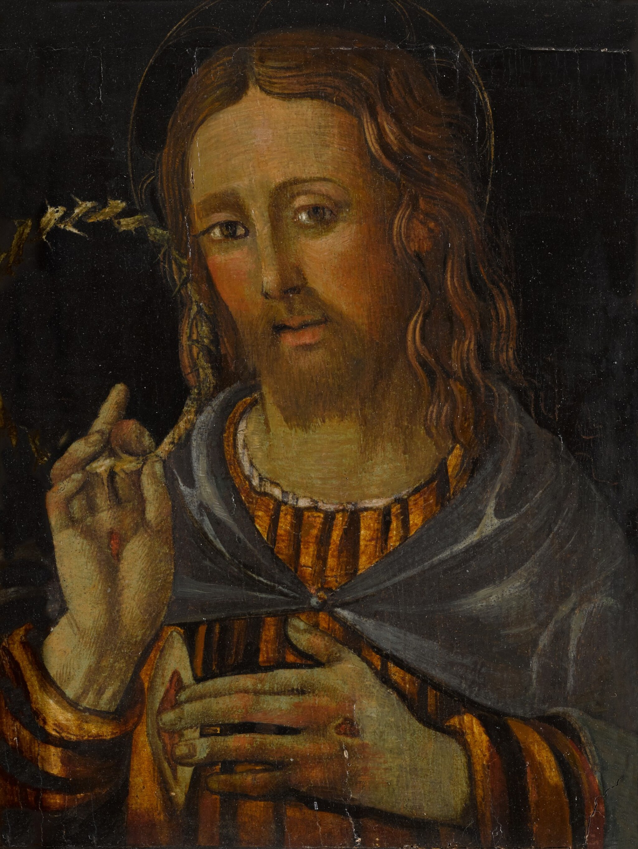 View full screen - View 1 of Lot 5.  ITALIAN SCHOOL, 16TH CENTURY | CHRIST DISPLAYING HIS WOUNDS.