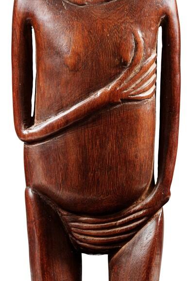 View 6. Thumbnail of Lot 64. Statue, Moai Papa, Île de Pâques | Moai Papa figure, Easter island.