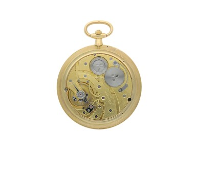 View 3. Thumbnail of Lot 34. CARTIER |  A YELLOW GOLD AND ENAMEL DEMI-HUNTING CASED WATCH, CIRCA 1920.