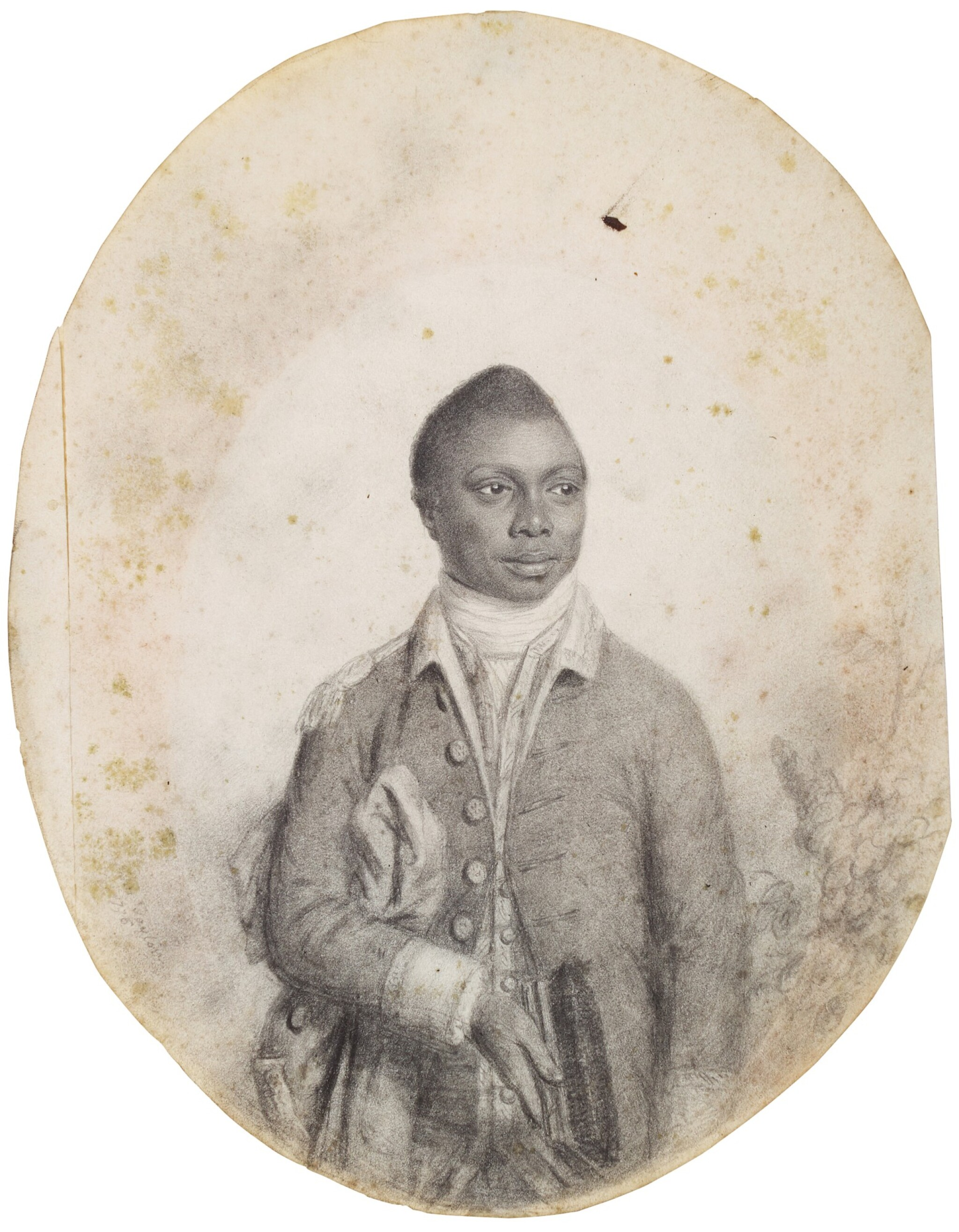 View full screen - View 1 of Lot 246. JOHN TAYLOR | PORTRAIT OF A SERVANT OF THE LAWRENCE FAMILY.