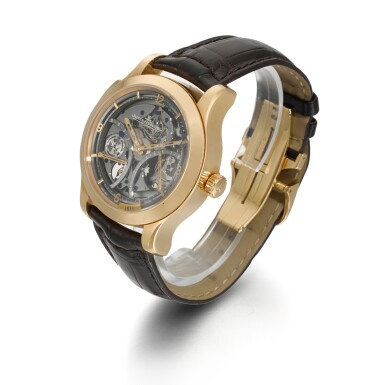 View 2. Thumbnail of Lot 354. JAEGER LECOULTRE   MASTER GRANDE TRADITION À RÉPÉTITION MINUTES, REF 151.2.67.S, LIMITED EDITION SKELETONISED PINK GOLD MINUTE REPEATING WRISTWATCH WITH 15-DAY POWER RESERVE AND TORQUE INDICATION, CIRCA 2008.