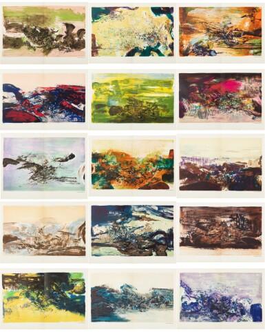View 1. Thumbnail of Lot 181.  À la gloire de l'image.... Barcelone, 1977. 15 lithographies en couleurs. Edition originale..