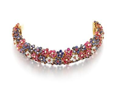 View 2. Thumbnail of Lot 1659. 'Hawaii' Ruby, Sapphire and Diamond Bracelet | 梵克雅寶 | 'Hawaii' 紅寶石 配 藍寶石 及 鑽石 手鐲.