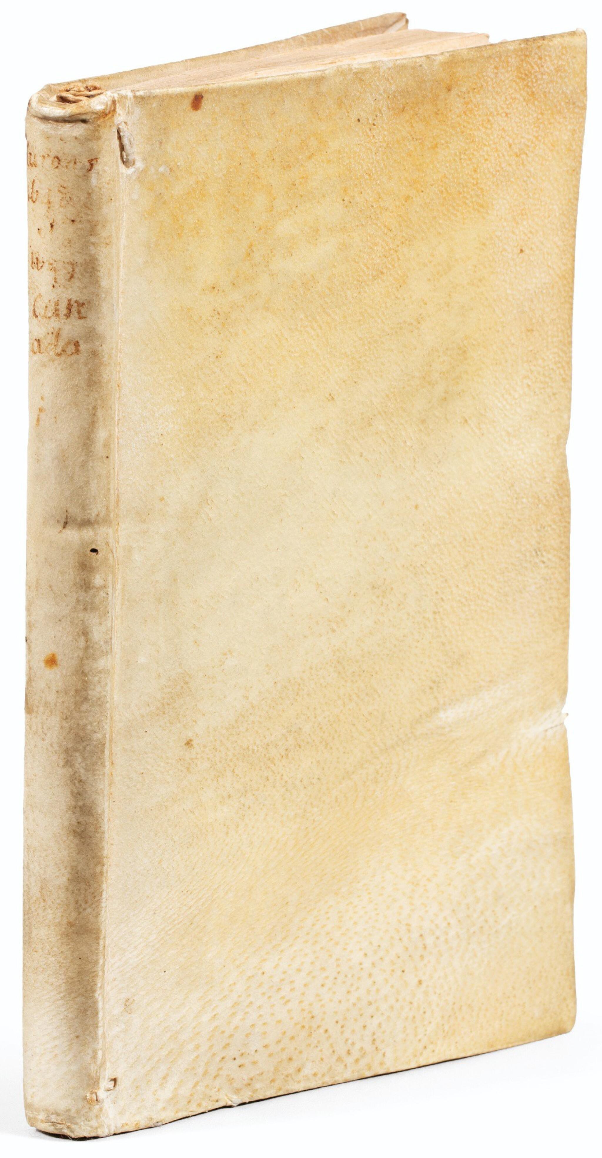 View full screen - View 1 of Lot 107. RAGUENEAU. Relation de ce qui s'est passé en la Mission des Peres de la Compagnie de Iesus. 1650. Vélin de l'ép. 2e éd..