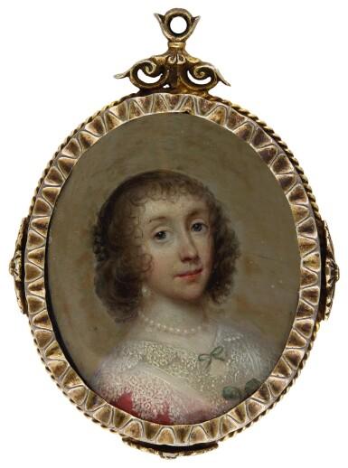 CORNELIUS JOHNSON (ALSO KNOWN AS CORNELIS JANSSENS VAN CEULEN) | PORTRAIT OF A LADY, TRADITIONALLY IDENTIFIED AS HENRIETTA MARIA, QUEEN OF ENGLAND, CIRCA 1635