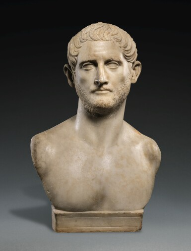 View 1. Thumbnail of Lot 42. A ROMAN MARBLE PORTRAIT BUST OF A MAN, TRAJANIC, EARLY 2ND CENTURY A.D..