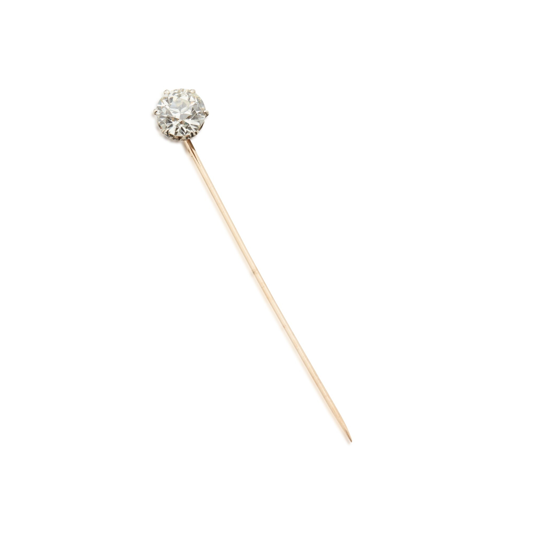View 1 of Lot 443. Gold and Diamond Stickpin.