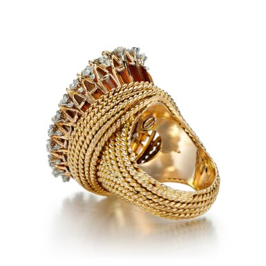 View 4. Thumbnail of Lot 40. CITRINE AND DIAMOND RING | STERLÉ, 1950S.