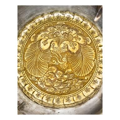 View 2. Thumbnail of Lot 202. A superb and important parcel-gilt silver 'lotus and pomegranate' bowl, Tang dynasty   唐 銀局部鎏金石榴蓮花紋花式大盌.