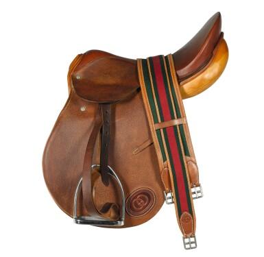 A Gucci Tan Leather Saddle Late 20th Century