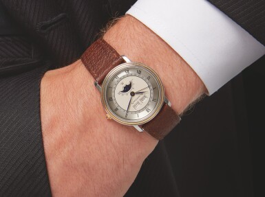 BLANCPAIN | STAINLESS STEEL AND YELLOW GOLD TRIPLE CALENDAR WRISTWATCH WITH MOON PHASES CIRCA 1990