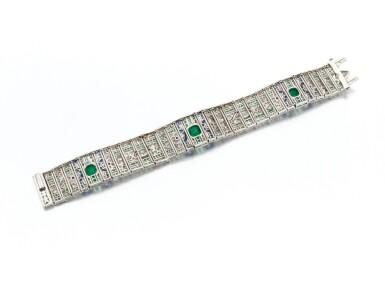 View 4. Thumbnail of Lot 24. Emerald, ruby, sapphire and diamond bracelet (Bracciale in rubini, smeraldi, zaffiri e diamanti).