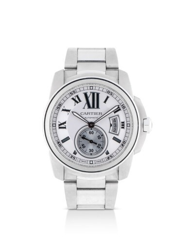 View 1. Thumbnail of Lot 16. CARTIER | CALIBRE DE CARTIER, REFERENCE 3389, STAINLESS STEEL WRISTWATCH WITH DATE AND BRACELET, CIRCA 2011.