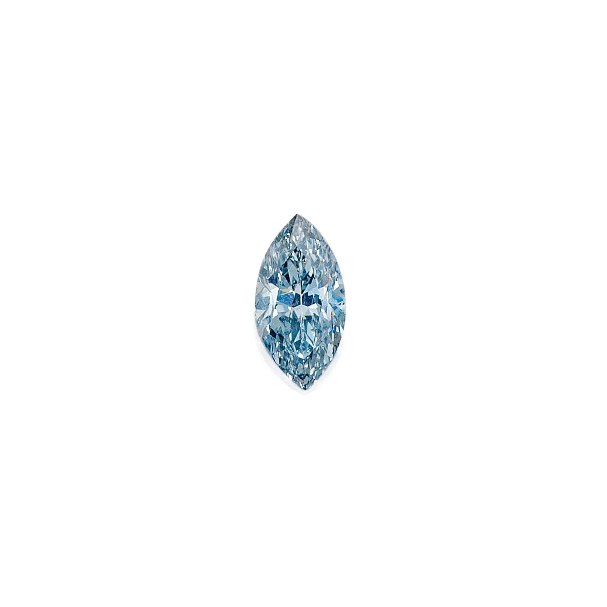 View full screen - View 1 of Lot 485. FANCY GRAYISH BLUE DIAMOND RING   彩灰藍色鑽石戒指.