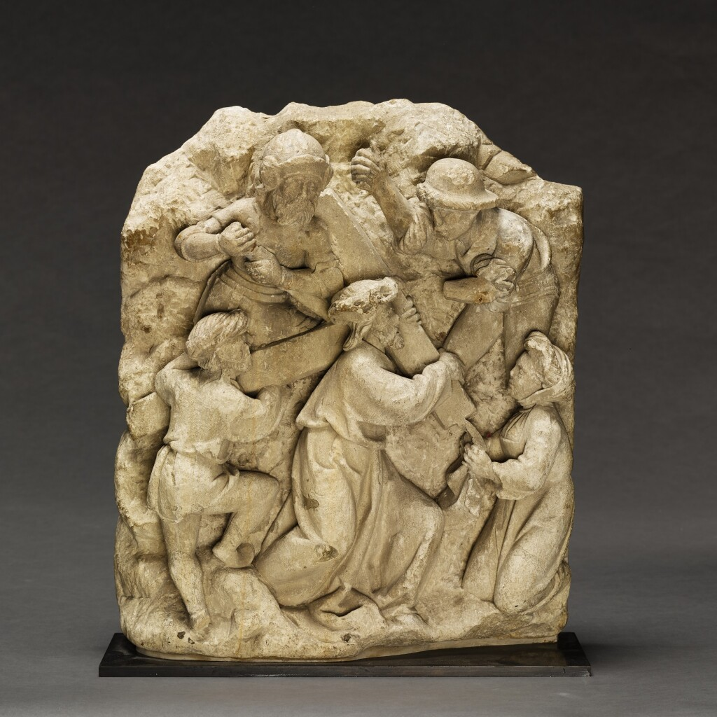 CIRCLE OF ADAM KRAFT (1455- CIRCA 1509) | RELIEF WITH CHRIST CARRYING THE CROSS