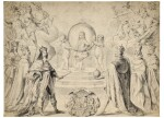 Allegorical scene of Monarchs, including Louis XIII of France, celebrating the accession to the Duchy of Savoy of Charles Emmanuel II, Prince of Piedmont, in 1638