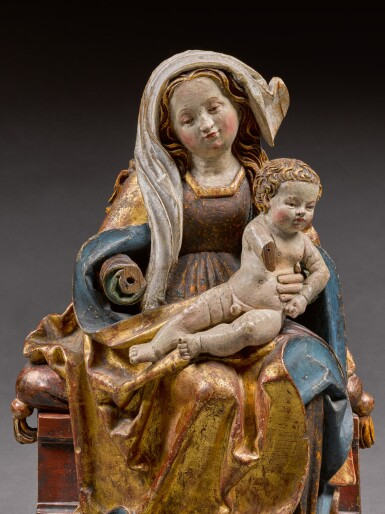 Workshop of Jörg Lederer (circa 1470-1550), Southern German, early 16th century | Virgin and Child Enthroned