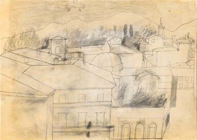 View 1. Thumbnail of Lot 601. BEN NICHOLSON | FULL MOON, LUCCA, SEPT 1956.