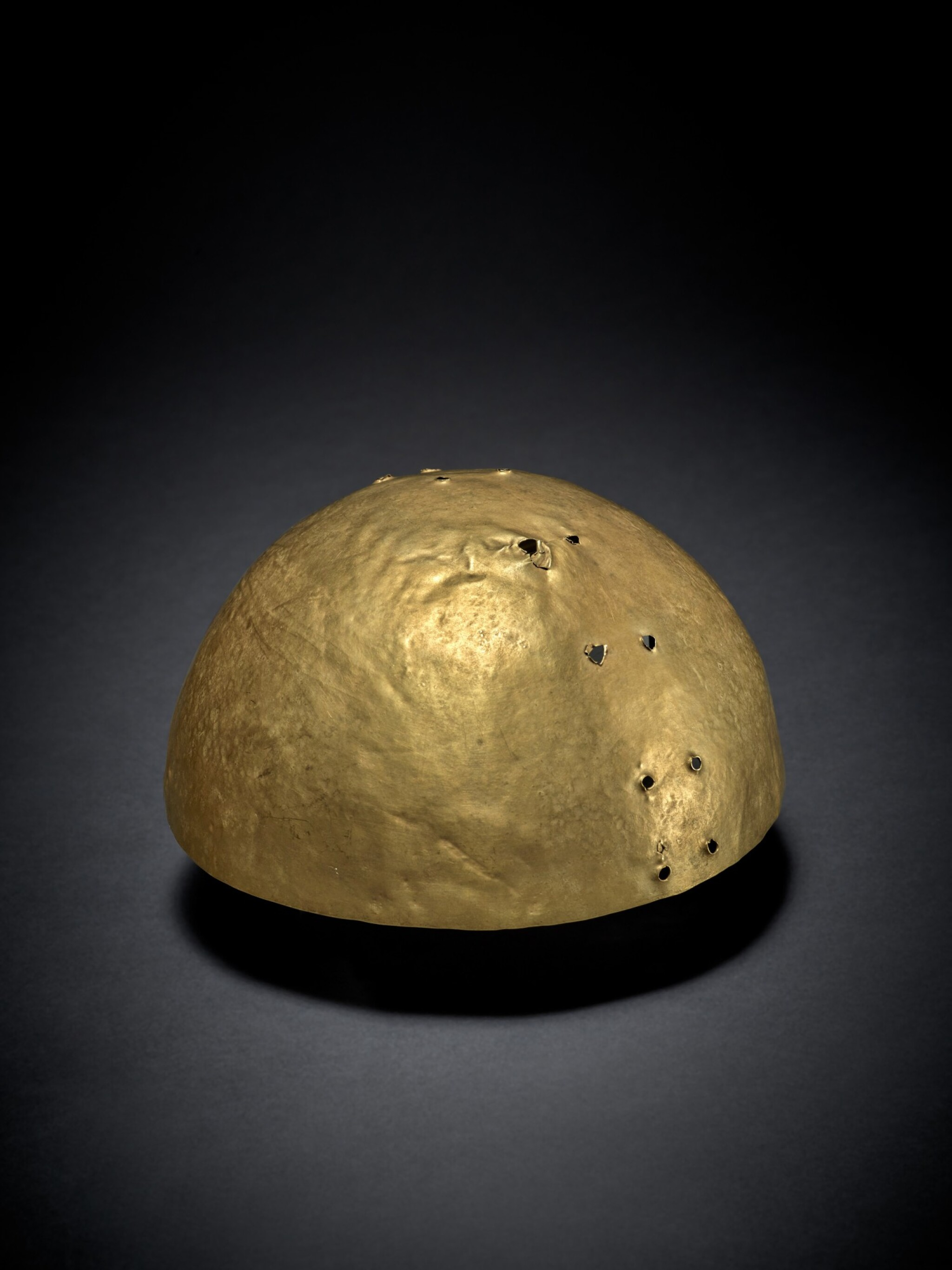 View full screen - View 1 of Lot 92. Colombian Gold Helmet circa AD 300 - 900.