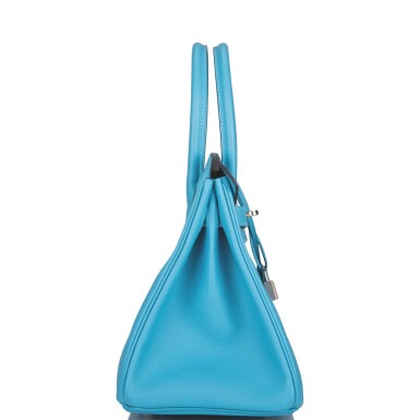 View 3. Thumbnail of Lot 63. Hermès Bleu Du Nord Birkin 30cm of Epsom Leather with Palladium Hardware.