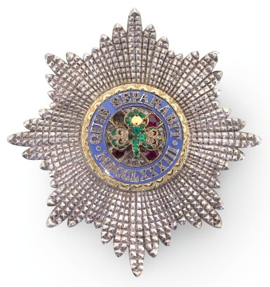 View 1. Thumbnail of Lot 187. THE MOST ILLUSTRIOUS ORDER OF ST PATRICK, A JEWELLED BREAST STAR.