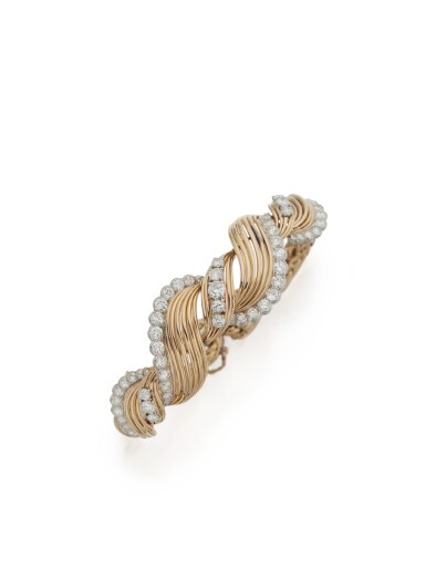 GOLD AND DIAMOND BRACELET, MAUBOUSSIN, PARIS