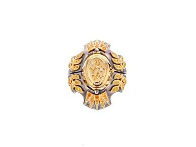 View 2. Thumbnail of Lot 5. Elie Top, Yellow Sapphire, Garnet and Diamond Ring [Bague Diamants, Grenat Mandarine et Saphirs Jaunes], 'Feu D'été'.