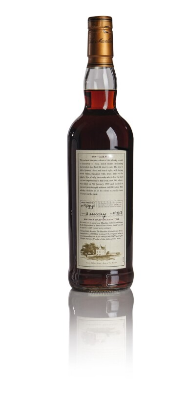 View 2. Thumbnail of Lot 84. THE MACALLAN FINE & RARE 32 YEAR OLD 54.9 ABV 1970 .