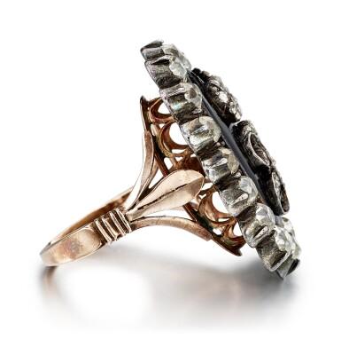 View 2. Thumbnail of Lot 9007. Diamond and Enamel Ring, Late 19th Century | 鑽石 配 琺瑯彩 戒指,19世紀末.