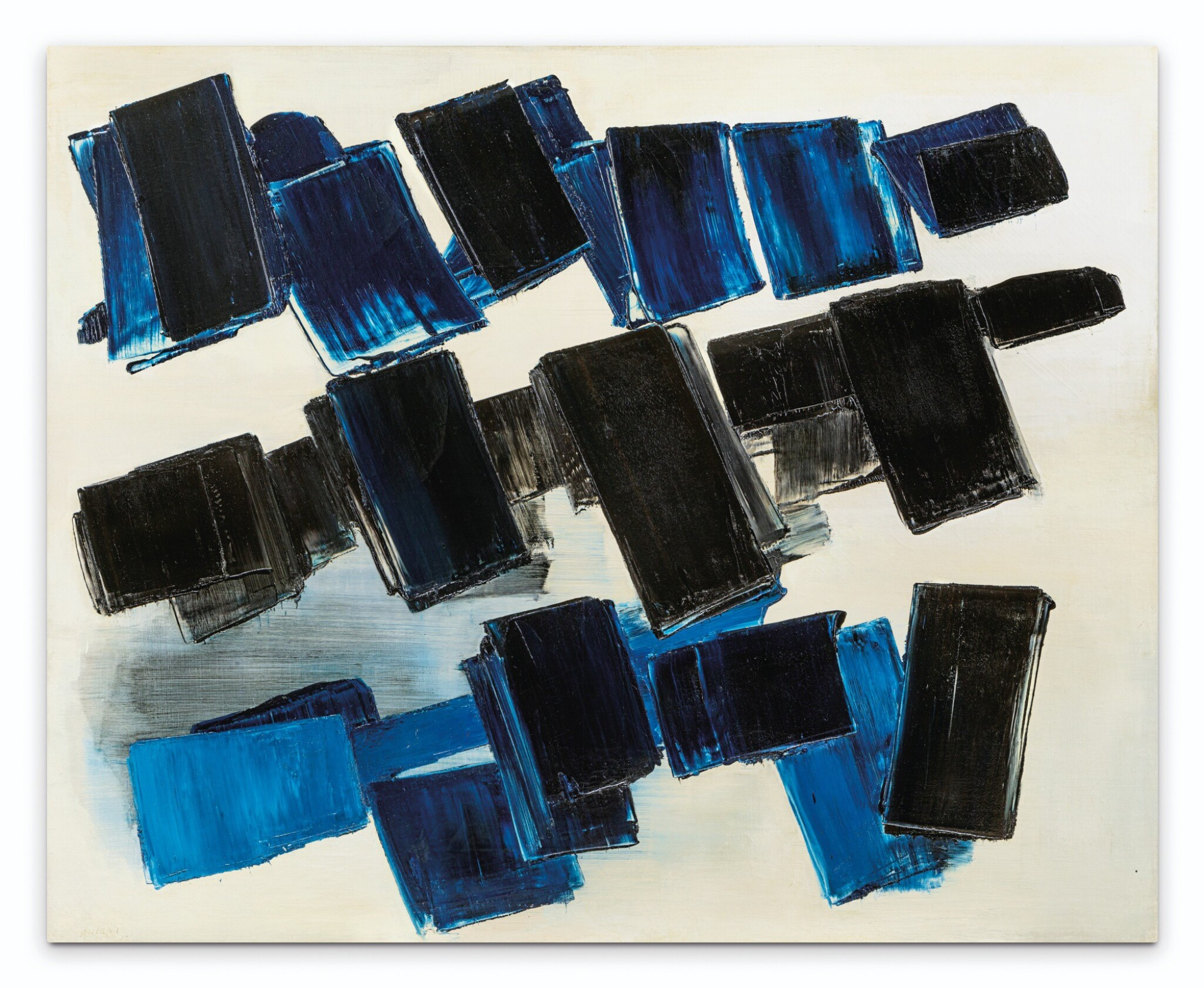 View full screen - View 1 of Lot 7. PIERRE SOULAGES   PEINTURE 130 X 162 CM, 14 AVRIL 1957.