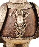 A SILVER-GILT MOUNTED COCONUT CORPORATION CUP SHAPED AS AN EAGLE, PROBABLY NERESHEIMER, HANAU, CIRCA 1890 | COUPE DE CORPORATION EN FORME D'AIGLE, LE CORPS EN NOIX DE COCO MONTÉE EN VERMEIL, PROBABLEMENT PAR NERESHEIMER, HANAU, VERS 1890