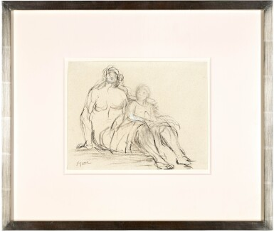 View 2. Thumbnail of Lot 163. Seated Mother and Child I.