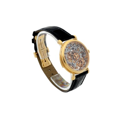 View 4. Thumbnail of Lot 182. REFERENCE 30030 A PINK GOLD SKELETONIZED MINUTE REPEATING WRISTWATCH, CIRCA 1995.
