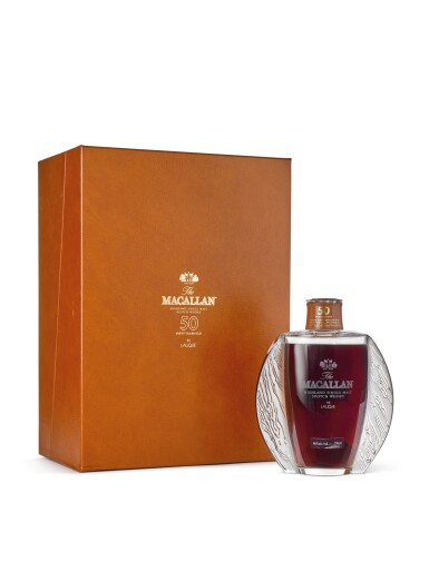 View 2. Thumbnail of Lot 2001. The Macallan In Lalique - Exceptional Oak Cask Decanter, 50 Years Old.