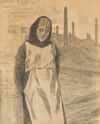 View 1. Thumbnail of Lot 170. Original Drawing for the Print 'La Grève'.