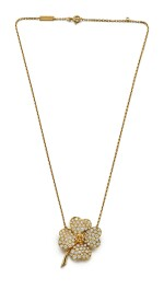DIAMOND PENDENT NECKLACE / BROOCH, 'COSMOS', VAN CLEEF & ARPELS | 鑽石項鏈 / 別針, 'Cosmos', 梵克雅寶(Van Cleef & Arpels)