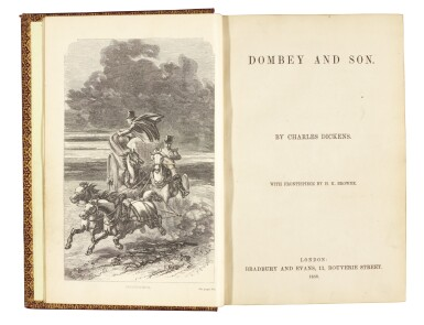 Dickens, Dombey and Son, 1858, presentation copy inscribed to Sudlow