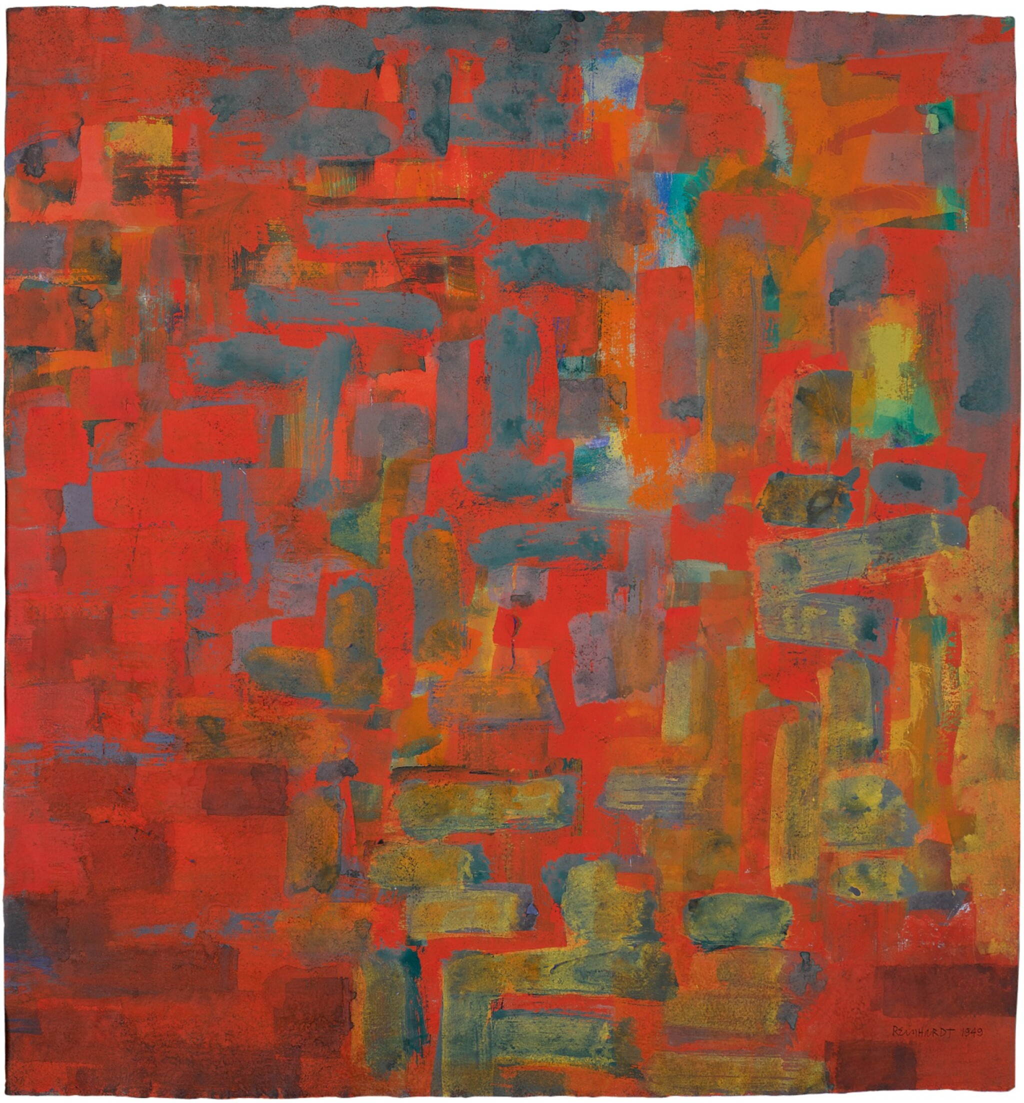 View 1 of Lot 201. AD REINHARDT   UNTITLED.