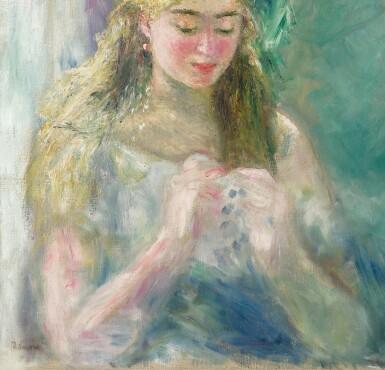 View 3. Thumbnail of Lot 1015. Pierre-Auguste Renoir 皮耶・奧古斯特・雷諾瓦 | La couseuse 縫紉的女子.